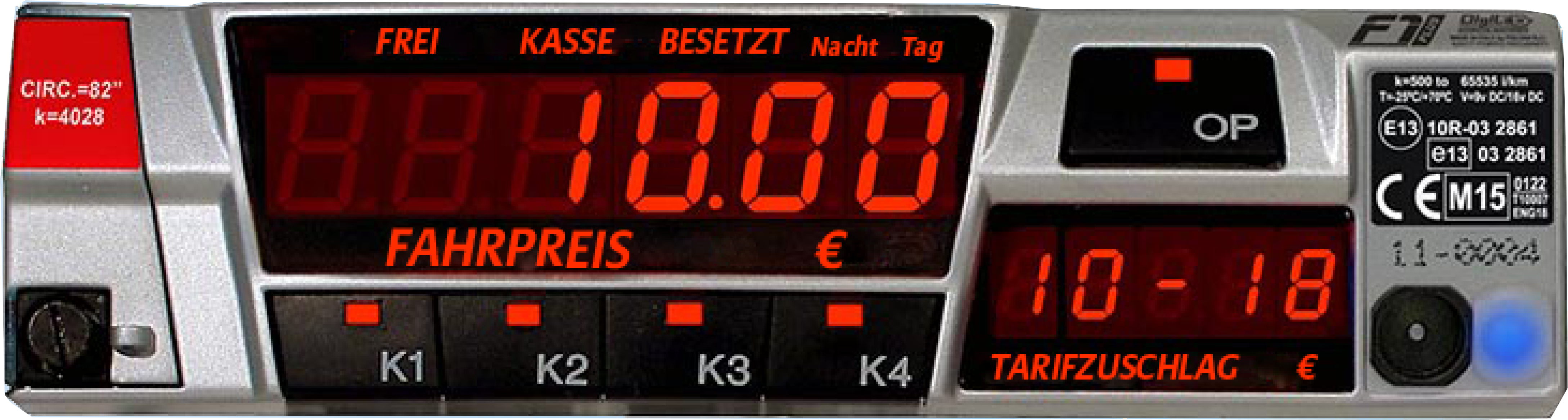 Taxameter: F1+